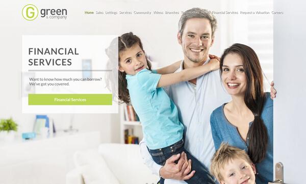 Green & co website design