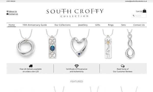 South Crofty Website Design